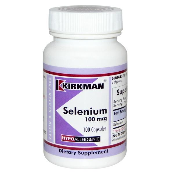 Kirkman Labs, Селен, 100 мкг, 100 капсул (Discontinued Item)