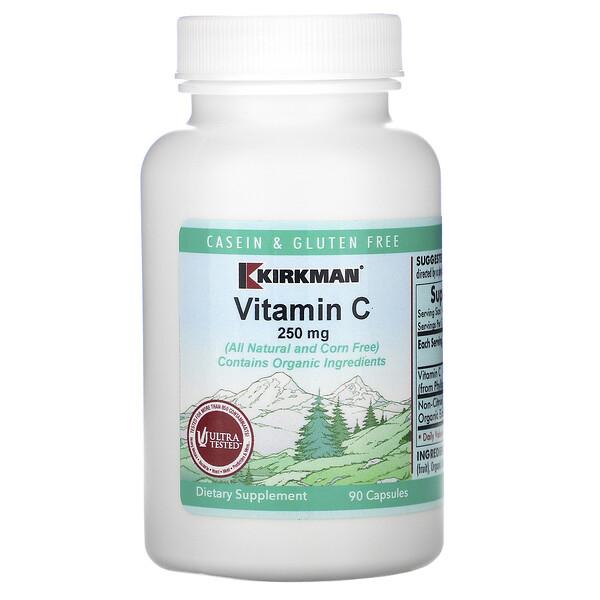 Kirkman Labs, Vitamin C, 250 mg, 90 Capsules