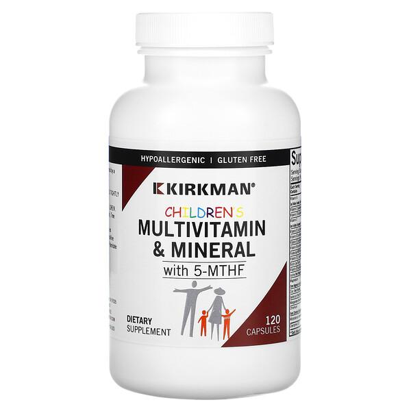 мультивитамины и минералы для детей с 5-МТГФ, 120капсул