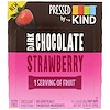 KIND Bars, Pressed by KIND, Dark Chocolate Strawberry, 12  Fruit Bars, 1.34 oz (38 g) Each