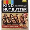 KIND Bars, Батончики с ореховым маслом для закуски, медово-миндальное масло, 4 батончика, по 1,3 унции (37 г) каждый