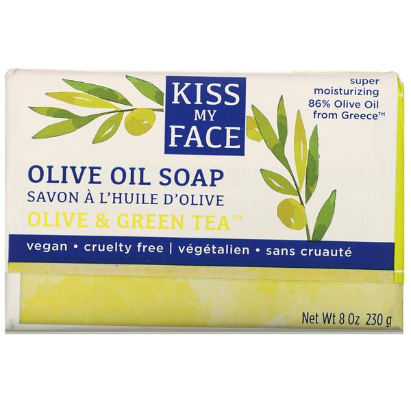 Olive Oil Soap, Olive & Green Tea, 8 oz (230 g)