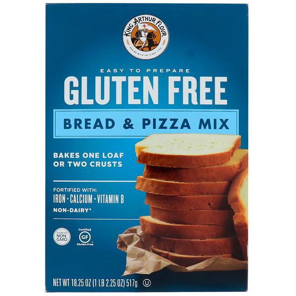King Arthur Flour, Без глютена, смесь для приготовления хлеба и основы для пиццы, 18,25 унц. (517 г) (Discontinued Item)