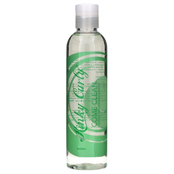 Kinky-Curly, Come Clean, натуральный увлажняющий шампунь, 236 мл (8 унций)