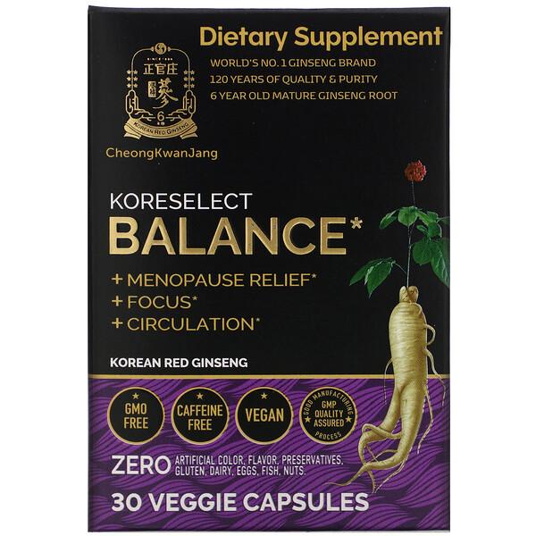 Koreselect, Balance, 30 Veggie Capsules