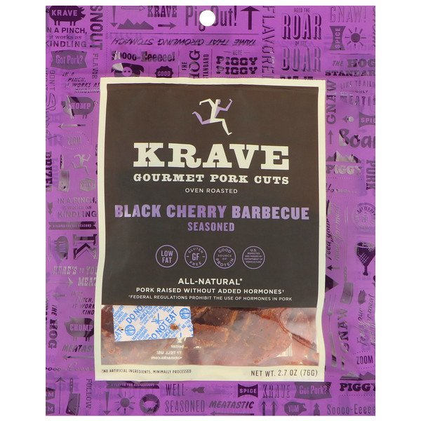 Krave, Gourmet Pork Cuts, Black Cherry Barbecue, 2.7 oz (76 g) (Discontinued Item)