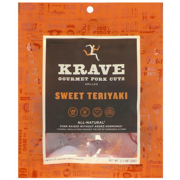 Krave, Gourmet Pork Cuts, Sweet Teriyaki, 2.7 oz (76 g) (Discontinued Item)