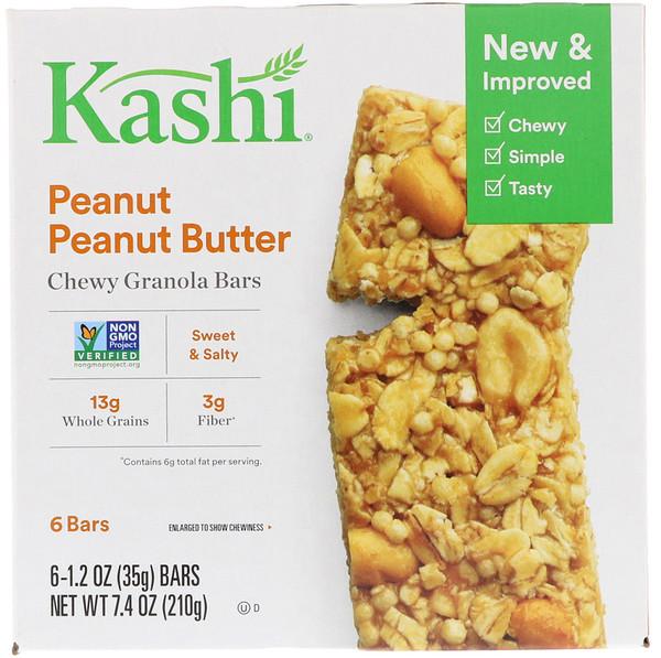 Батончик гранолы, арахисовое масло, 6 шт.  по 35 г (1,2 oz) каждый