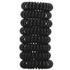 Kitsch, Спиральные резинки для волос, черные, 8шт.