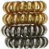 Kitsch, Спиральные резинки для волос металлических оттенков, 4шт.