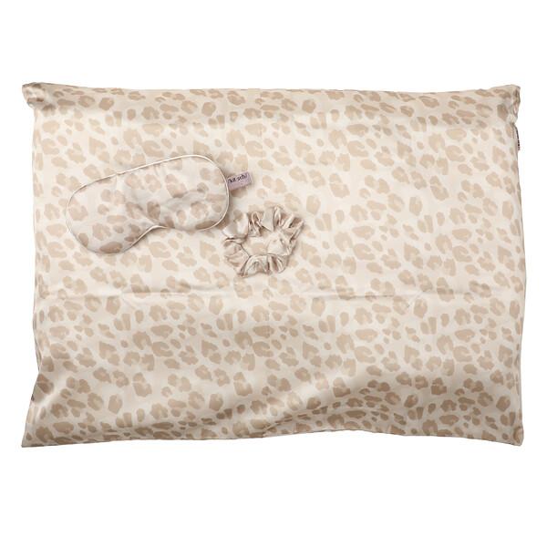 Набор для сна из сатина, с леопардовым принтом, набор из 3предметов