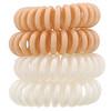 Kitsch, Спиральные резинки для волос нюдовых оттенков, 4шт.