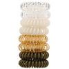 Kitsch, Спиральные резинки для волос, светлые оттенки, 8шт.
