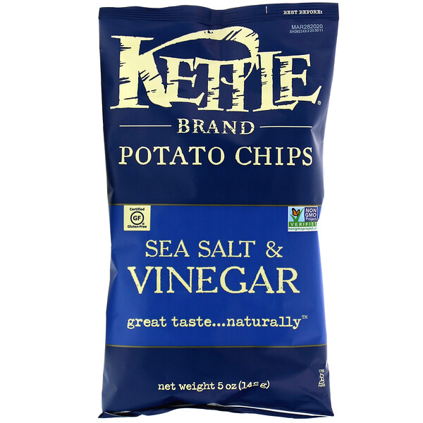 Картофельные чипсы, морская соль и уксус, 142 г (5 унций)