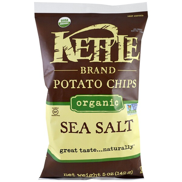 Органические картофельные чипсы, морская соль, 5 унций (142 г)