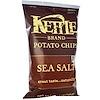 Kettle Foods, Картофельные чипсы, морская соль, 142 г (5 унций)