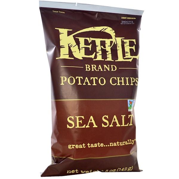 Картофельные чипсы, морская соль, 142 г (5 унций)