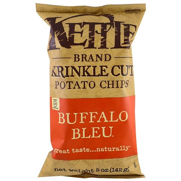 Kettle Foods, Картофельные чипсы, со вкусом мяса баффало блю, 5 унций (142 г) (Discontinued Item)