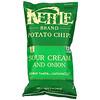 Kettle Foods, картофельные чипсы, сметана и лук, 142г (5унций)