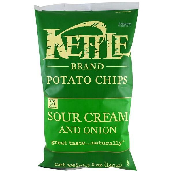 картофельные чипсы, сметана и лук, 142 г (5 унций)