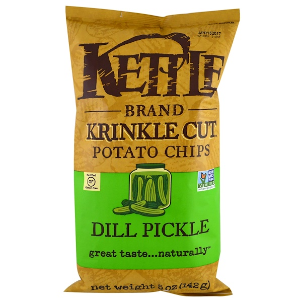 Картофельные чипсы из обжаренного картофеля с укропом, 5 унций (142 г)