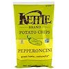 Kettle Foods, Картофельные чипсы, пепперонцини, 5 унций (142 г)