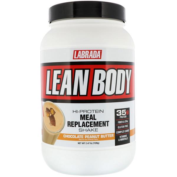 Lean Body, высокопротиеновый коктейль, вкус шоколадно-арахисового масла, 2,47 фунта (1120 г)