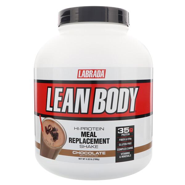Lean Body, высокопротеиновый коктейль, заменитель пищи, шоколад, 4,63 фунта (2100 г)