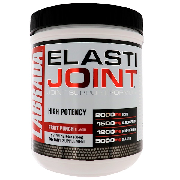 ElastiJoint, формула для поддержки суставов со вкусом фруктового пунша, 384 г (13,54 унции)