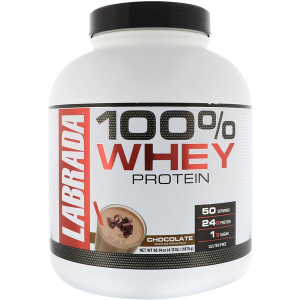 100% сывороточный протеин, со вкусом шоколада, 1875г (4,13фунта)