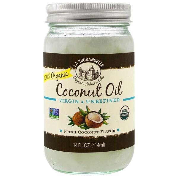 Нерафинированное органическое кокосовое масло первого отжима, 414мл