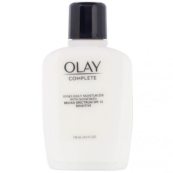 Olay, Complete, UV365, дневное увлажняющее средство, SPF15, для чувствительной кожи, 118мл (4,0жидк. унции)