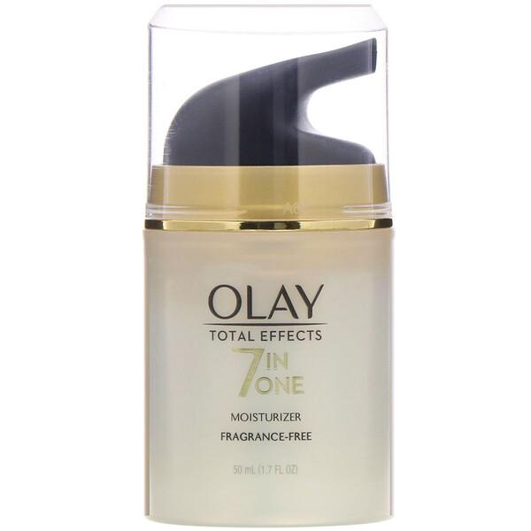 Olay, Total Effects, 7в1, увлажняющее средство, без отдушек, 50мл (1,7жидк.унций)
