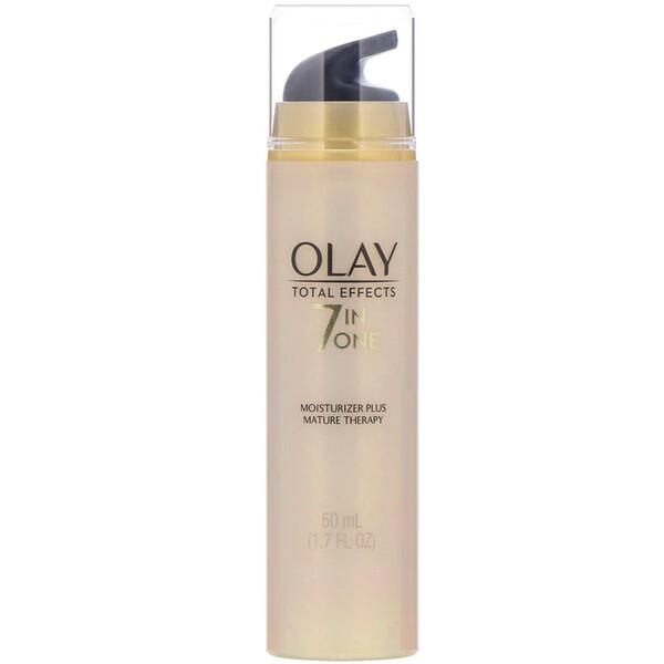 Olay, Total Effects, 7в1, увлажняющее средство+уход за зрелой кожей, без отдушек, 50мл (1,7жидк.унций)
