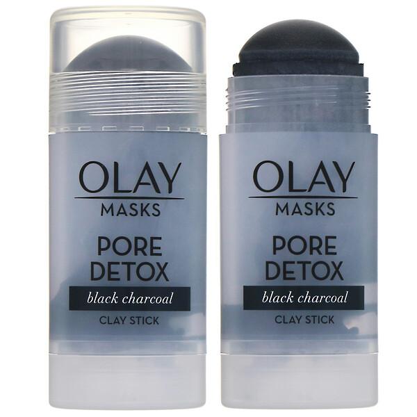 Masks, Pore Detox, глиняная маска-стик с черным древесным углем, 48г (1,7унции)