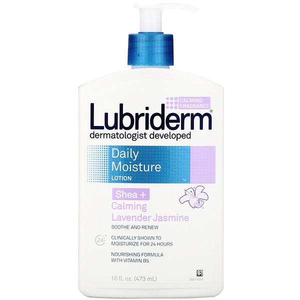 Lubriderm, Ежедневный увлажняющий лосьон, ши + успокаивающая лаванда и жасмин, 16 жидк. унц. (473 мл)