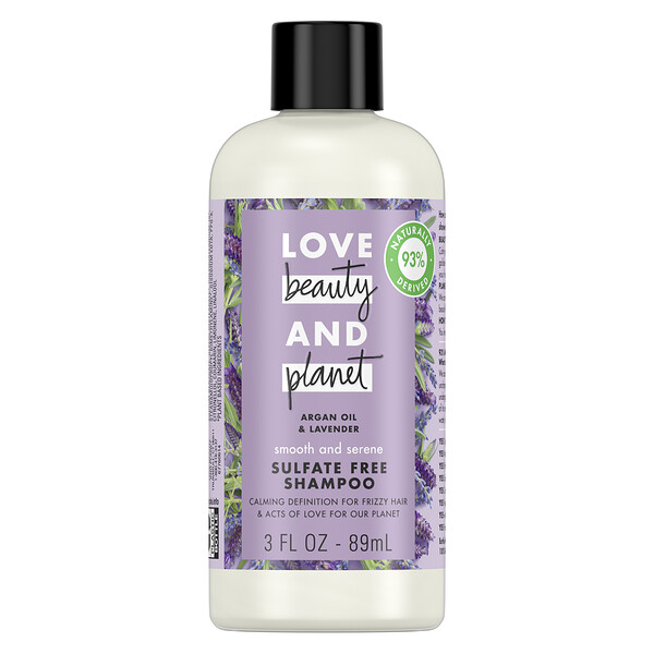 Love Beauty and Planet, Smooth and Serene Shampoo, Argan Oil & Lavender, 3 fl oz (89 ml) (Discontinued Item)