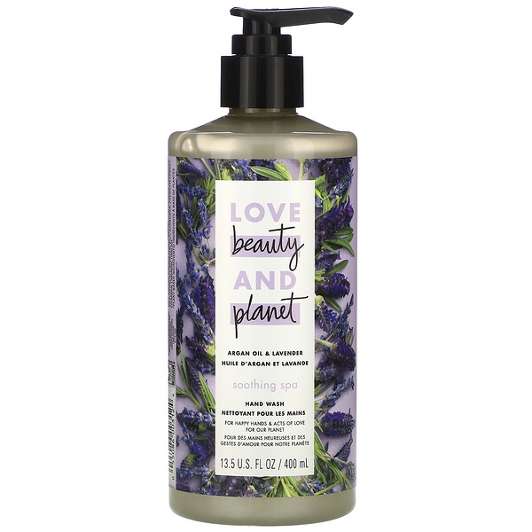Love Beauty and Planet, Мыло для рук Soothing Spa, «Аргановое масло и лаванда», 400мл