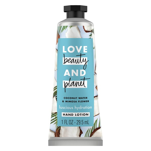 Love Beauty and Planet, Luscious Hydration Hand Lotion, Coconut Water & Mimosa Flower, 1 oz (29.5 ml)
