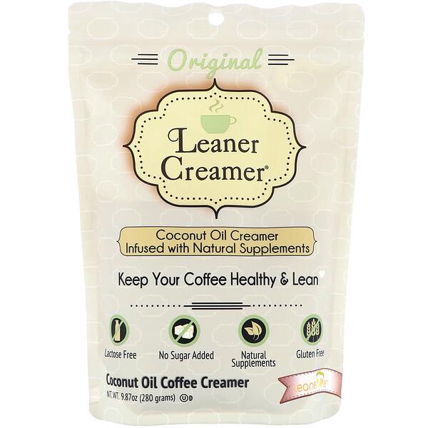 Leaner Creamer, Сливки из кокосового масла, оригинальные, 9,87 унц. (280 г)