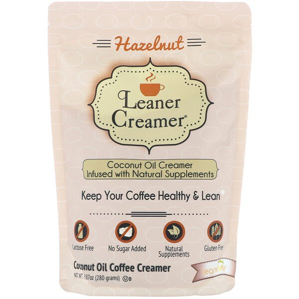 Coconut Oil Coffee Creamer, Hazelnut, 9.87 oz (280 g)