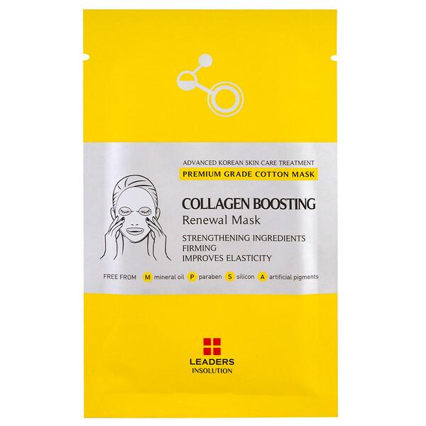 Leaders, Collagen Boosting Renewal Mask, 1 Sheet, 25 ml (Discontinued Item)