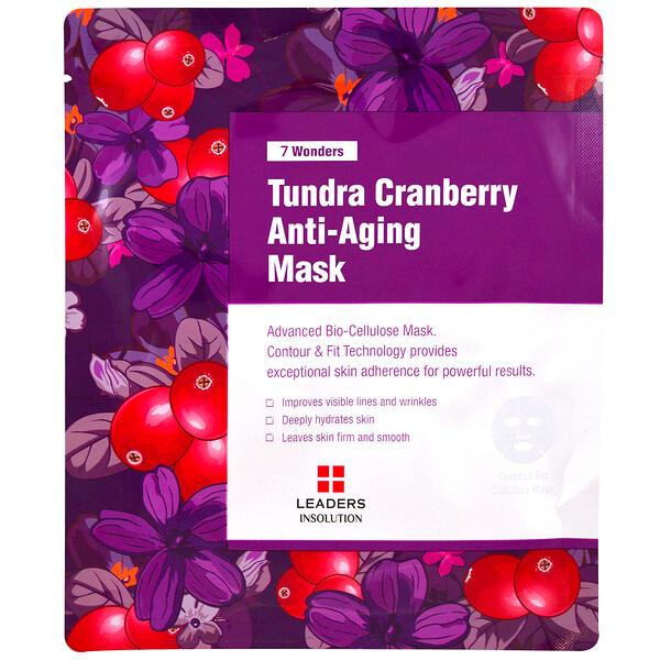 7 Wonders, Tundra Cranberry Anti-Aging Mask, 1 Sheet, 1.01 fl oz (30 ml)
