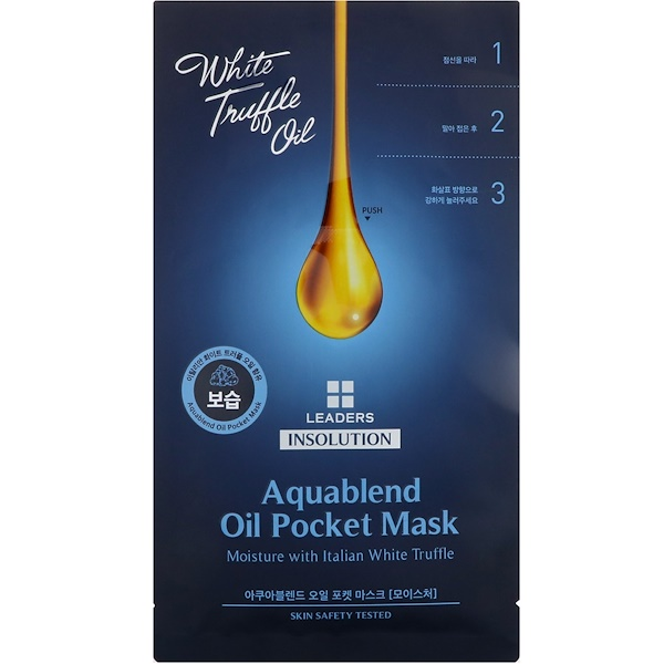 Leaders, Insolution, Aquablend Oil Pocket Mask, Moisture, 1 Sheet, 27 ml (Discontinued Item)