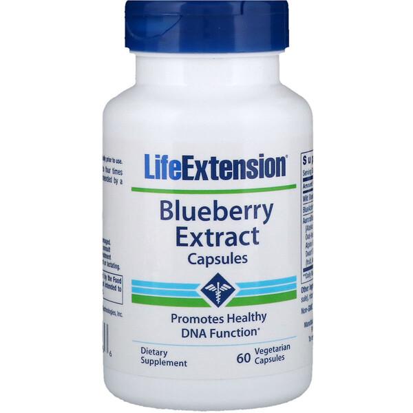 Life Extension, Экстракт черники в капсулах, 60 вегетарианских капсул (Discontinued Item)