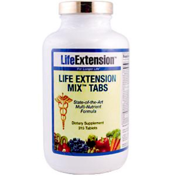 Life Extension, Mix Tabs, 315 Tablets (Discontinued Item)