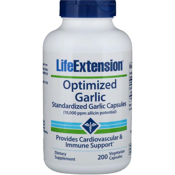 Оптимизированный чеснок, капсулы стандартизированного чеснока, 200 растительных капсул