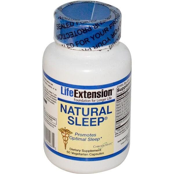 Life Extension, Естественный сон, 60 вегетарианских капсул (Discontinued Item)