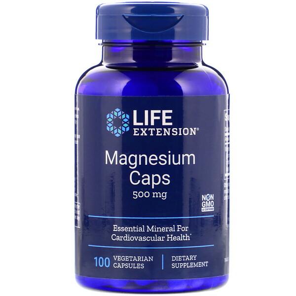 Магниевые капсулы, 500 мг, 100 вегетарианских капсул