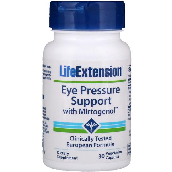 Поддержка нормального глазного давления с Mirtogenol, 30растительных капсул